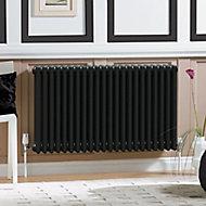 Acova 4 Column radiator, Volcanic (W)1226mm (H)600mm