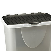 Clear 60L Plastic Storage box & lid