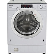 Hoover HBWMO 96TAHC-80 White Built-in Washing machine, 9kg