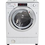 Hoover HBWDO8514TAHC-80 White Built-in Condenser Washer dryer, 8kg/5kg