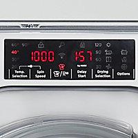 Hoover HBWDO8514TAHC-80 White Built-in Condenser Washer dryer, 8kg/5kg