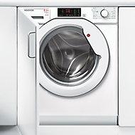 Hoover HBWD 8514D-80 White Built-in Condenser Washer dryer