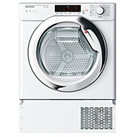 Hoover HTDBW H7A1TCE-80 White Built-in Heat pump Tumble dryer, 7kg