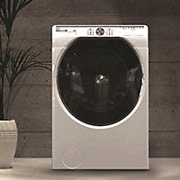 Hoover AWDPD6106LH/1-80 White Freestanding Condenser Washer dryer, 10kg/6kg