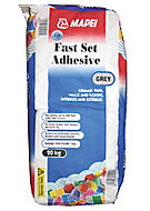 Mapei Fast set Ready mixed Grey Floor & wall Tile Powder Adhesive, 20kg