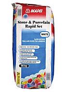 Mapei Fast Set Powder Stone & porcelain adhesive white, White 20kg