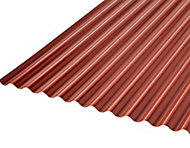 Grey & red PVC Corrugated Roofing Sheet 2m x 1000mm