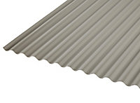 Ecolina Grey & red PVC Corrugated Roofing sheet (L)2m (W)1000mm (T)2mm
