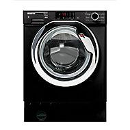 Hoover HBWD8514DCB/1-80 Black Freestanding Washer dryer, 8kg