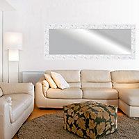 Romantic Painted White Rectangular Framed Mirror (H)1530mm (W)530mm
