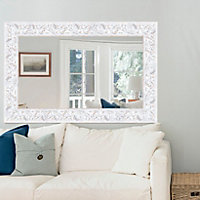Romantic Painted Framed Rectangular Mirror (H)1130mm (W) 730mm