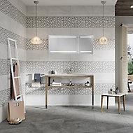 Manhattan Grey Matt Ceramic Wall tile, Pack of 5, (L)600mm (W)300mm