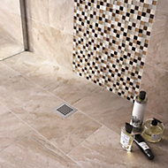 Haver Sand Matt Stone effect Ceramic Wall & floor tile, Pack of 6, (L)300mm (W)600mm