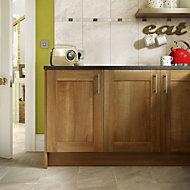 Haver Chalk Matt Stone effect Ceramic Wall & floor tile, Pack of 6, (L)300mm (W)600mm