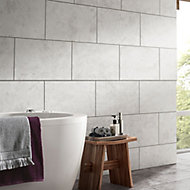 Oscano Light grey Matt Stone effect Ceramic Wall & floor tile, Pack of 6, (L)300mm (W)600mm
