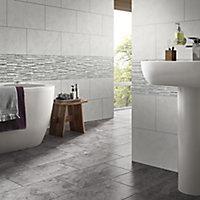 Oscano Grey mix Matt Splitface Stone effect Ceramic Wall tile, Pack of 6, (L)300mm (W)600mm