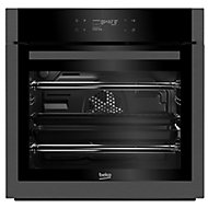 Beko BQM29500DXP Black Built-in Electric Single Multifunction Oven