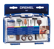 Dremel 60-120 Grit Multipurpose kit (Dia)147mm, Set of 52
