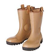 Dunlop Black & tan Rigger boots, Size 8