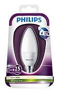 Philips E14 4W 250lm Candle Warm white LED Light bulb
