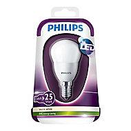 Philips E14 4W 250lm Mini globe Warm white LED Light bulb