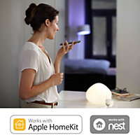 Philips Hue B22 LED Warm white GLS Dimmable Smart Light bulb