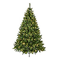 8ft Ridgemere Pine Pre-lit Artificial Christmas tree