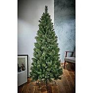 8ft Ridgemere Slim pine Artificial Christmas tree