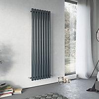 Ximax Vulkan Vertical Designer radiator Anthracite (H)1800 mm (W)435 mm