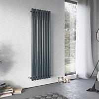 Ximax Vulkan Vertical Designer radiator Anthracite (H)1800 mm (W)585 mm