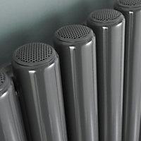 Ximax Vulkan Vertical Designer Radiator, Anthracite (W)585mm (H)1800mm