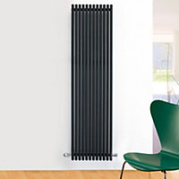 Ximax Supra Vertical Designer radiator Anthracite (H)1800 mm (W)470 mm