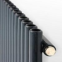 Ximax Supra Vertical Designer Radiator, Anthracite (W)470mm (H)1800mm