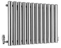 Ximax Vulkan Horizontal Designer radiator Grey (H)600 mm (W)885 mm