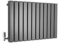 Ximax Vulkan Square Horizontal Designer radiator Anthracite (H)600 mm (W)885 mm