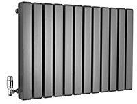 Ximax Vulkan Square Horizontal Designer Radiator, Anthracite (W)885mm (H)600mm