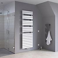 Ximax Vertical Towel radiator, White (W)600mm (H)1420mm