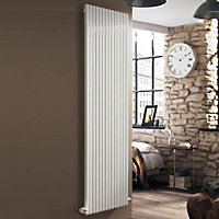 Ximax Supra Square Vertical Designer radiator White (H)1800 mm (W)550 mm