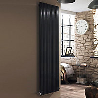 Ximax Supra Square Vertical Designer radiator Anthracite (H)1800 mm (W)550 mm
