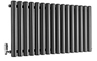 Ximax Vulkan Horizontal Designer radiator Anthracite (H)600 mm (W)1185 mm