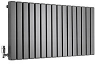 Ximax Vulkan Square Horizontal Designer radiator Anthracite (H)600 mm (W)1185 mm
