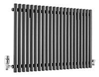 Ximax Supra Horizontal Designer radiator Anthracite (H)600 mm (W)870 mm