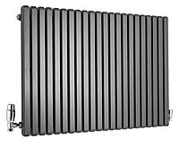 Ximax Supra Square Horizontal Radiator, Anthracite (W)870mm (H)600mm
