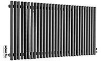 Ximax Supra Horizontal Designer radiator Anthracite (H)600 mm (W)1190 mm
