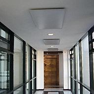 Ximax Brushed aluminium Panel radiator ceiling mount installation set (H)35mm (W)330mm (D)330mm