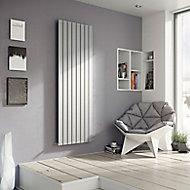 Ximax Vertirad Horizontal or vertical Designer Radiator, Silver effect (W)295mm (H)1800mm