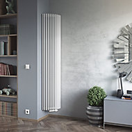 Ximax Triton Semi-Circle Vertical Designer radiator White (H)1800 mm (W)340 mm