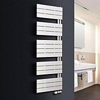 Ximax Vertirad Open 872W White Towel warmer (H)1495mm (W)600mm