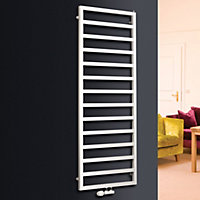 Ximax Pure 655W White Towel warmer (H)1470mm (W)600mm