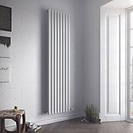 Ximax Fortuna Duplex Vertical Designer radiator White (H)1800 mm (W)236 mm